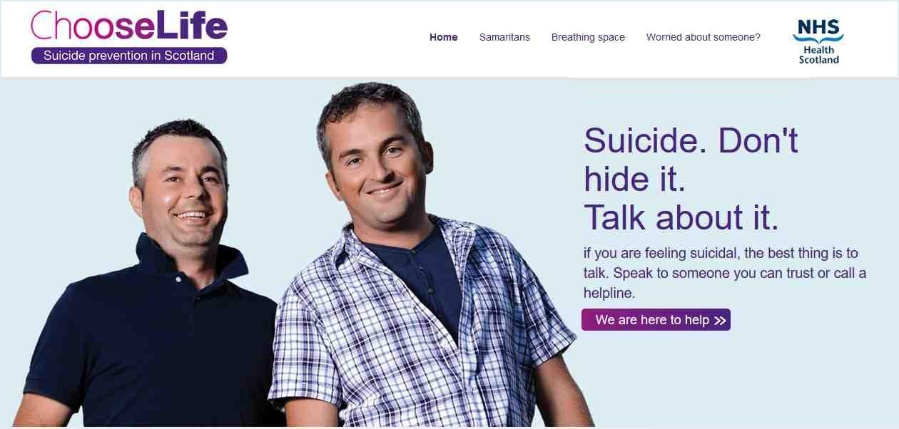 Male suicide - Choose Life Scotland